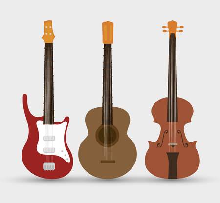 stringed: stringed instruments set isolated icon design, vector illustration  graphic