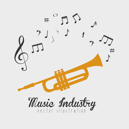 sounding: trumpet sounding  isolated icon design, vector illustration  graphic Illustration