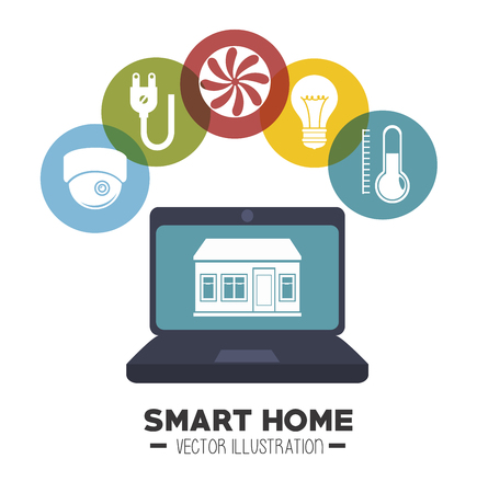 security lights: smart house  and its applications isolated icon design, vector illustration  graphic