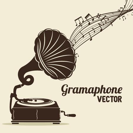 stary gramofon wyizolowanych ikonę projektowania, ilustracji grafiki wektorowej