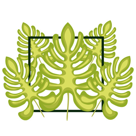 specie: jungle leaves pattern isolated icon design, vector illustration  graphic