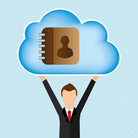 web directories: cloud computing design, vector illustration eps10 graphic