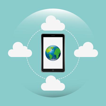 roaming: global technology design, vector illustration eps10 graphic