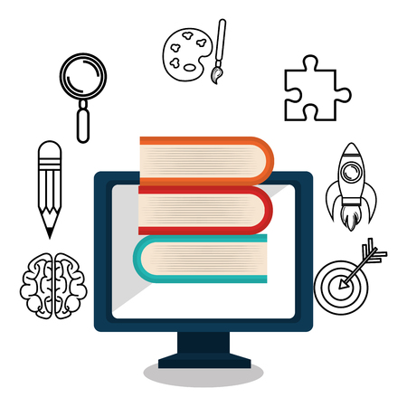 learning icon: online learning  isolated icon design, vector illustration  graphic Illustration