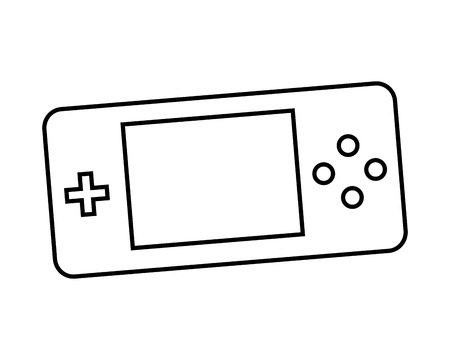 psp: Control video game isolated icon design, vector illustration  graphic Illustration