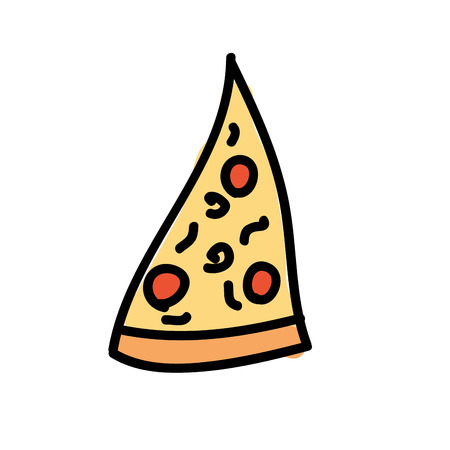 savory: pizza piece isolated icon design, vector illustration  graphic