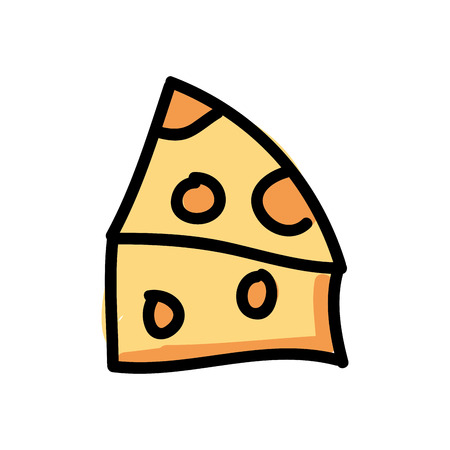 vectro: piece cheese isolated icon design, vector illustration  graphic Illustration