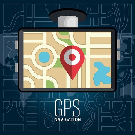 gps device: gps navigation design, vector illustration eps10 graphic Illustration