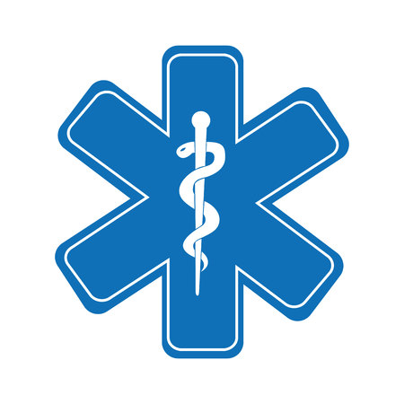 caduceus medical symbol: caduceus medical symbol isolated icon design, vector illustration  graphic Illustration