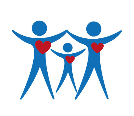 family isolated: Family healthy heart isolated icon design, vector illustration  graphic