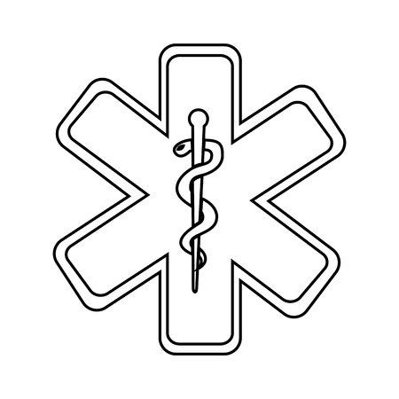 ems: caduceus medical symbol isolated icon design, vector illustration  graphic Illustration