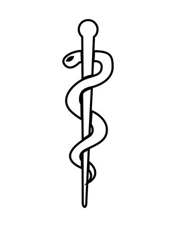 caduceus medical symbol: caduceus medical symbol isolated icon design, vector illustration  graphic Illustration