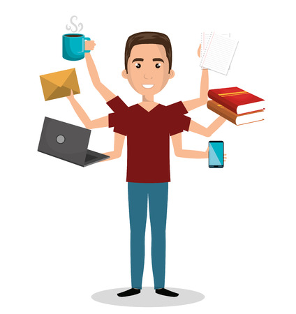 busy: busy person design, vector illustration eps10 graphic