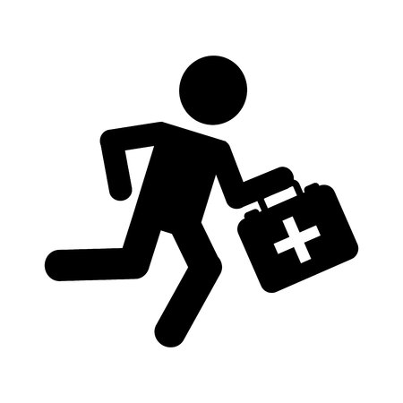 paramedic: paramedic running isolated icon design, vector illustration  graphic