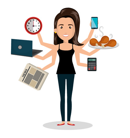 busy office: busy person design, vector illustration eps10 graphic