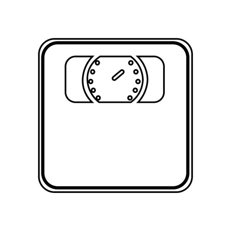 analog weight scale: weight measure scale isolated icon design, vector illustration  graphic Illustration