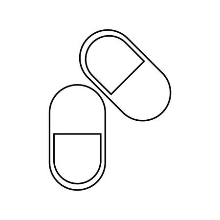 capsules: capsules medical isolated icon design, vector illustration  graphic