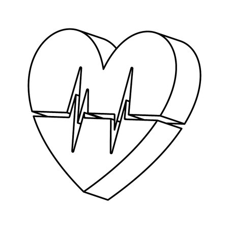 medical heart: Healthy heart symbol isolated icon design, vector illustration  graphic Illustration