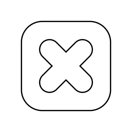 calculus: multiplication symbol button isolated icon design, vector illustration  graphic
