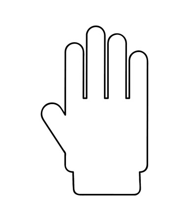 hand stop: hand stop  isolated icon design, vector illustration  graphic Illustration