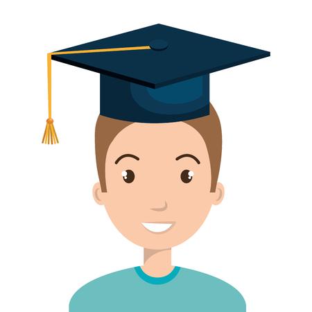 adult education: happy person graduating design, vector illustration eps10 graphic