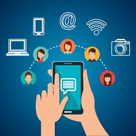Internet-Kommunikation Design, Vektor-Illustration eps10 Grafik Standard-Bild - 58766928