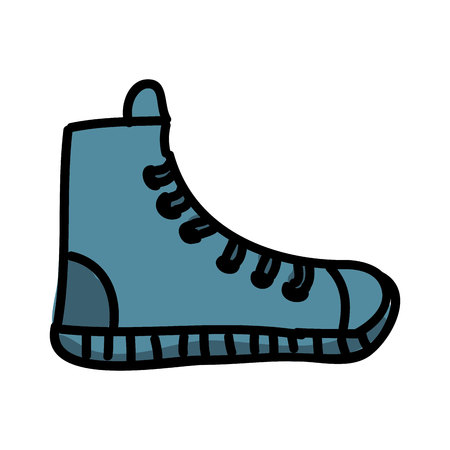 converse: young shoes isolated icon design, vector illustration  graphic