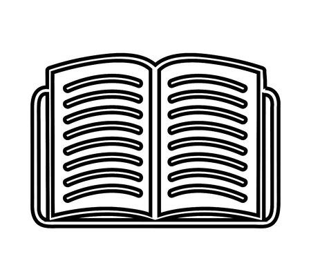 read magazine: book open  isolated icon design, vector illustration  graphic