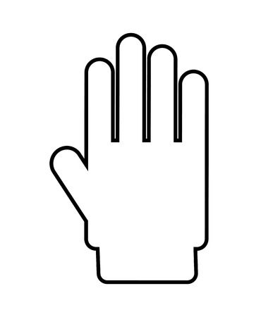 hand stop: hand stop isolated icon design, vector illustration  graphic