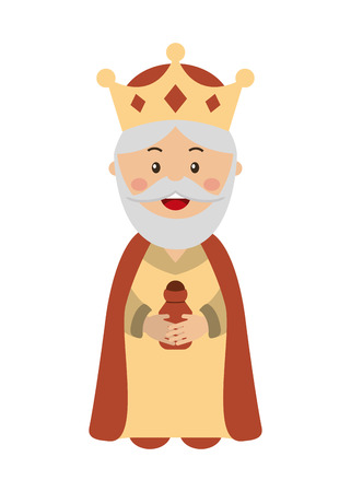 king of kings: King wizard icon epiphany isolated  design, vector illustration  graphic