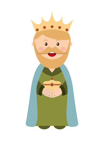 christ the king: King wizard icon epiphany isolated  design, vector illustration  graphic