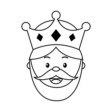 epiphany: King wizard icon epiphany isolated  design, vector illustration  graphic