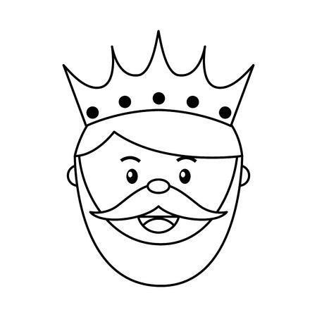 epiphany: King wizard icon epiphany isolated  design, vector illustration  graphic