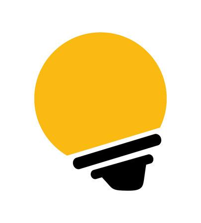ampoule icône isolé design, vecteur illustration graphique