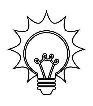 halogen: bulb isolated icon design, vector illustration  graphic