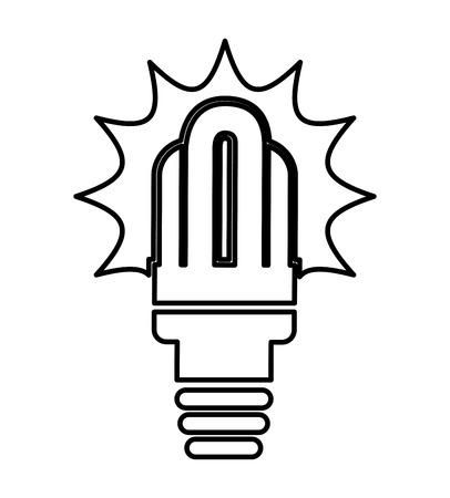 bombillo ahorrador: ahorrador aislado icono de bombilla de dise�o, ejemplo gr�fico del vector