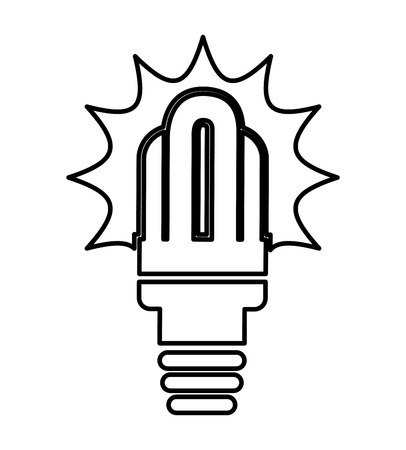 bombillo ahorrador: saver bulb isolated icon design, vector illustration  graphic