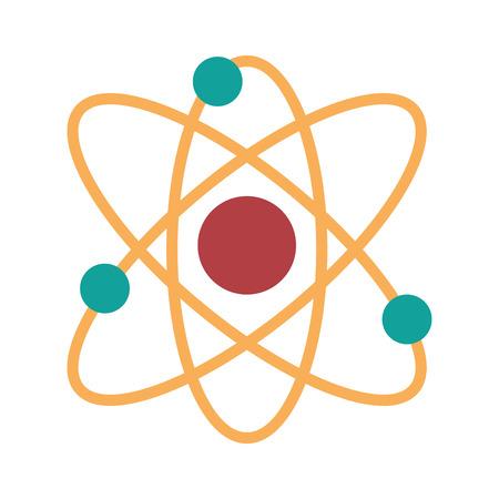 atomic symbol: Atom molecule isolated icon design, vector illustration  graphic