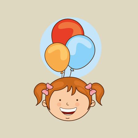 celebrating: kids celebrating design, vector illustration eps10 graphic
