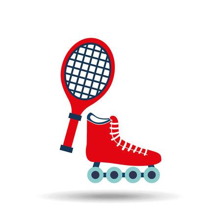inline skating: skate isolated design, vector illustration eps10 graphic