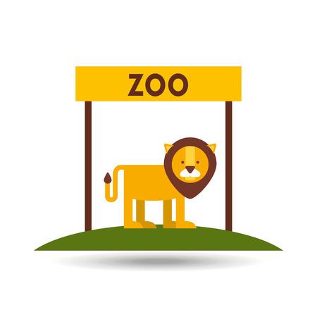 leon caricatura: animales del zool�gico de dise�o, ejemplo gr�fico del vector eps10
