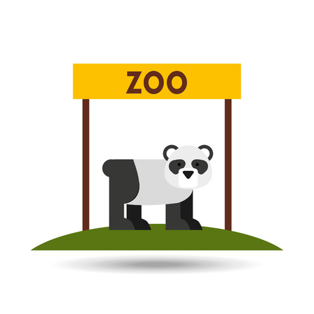 entrance: zoo animals  design, vector illustration eps10 graphic