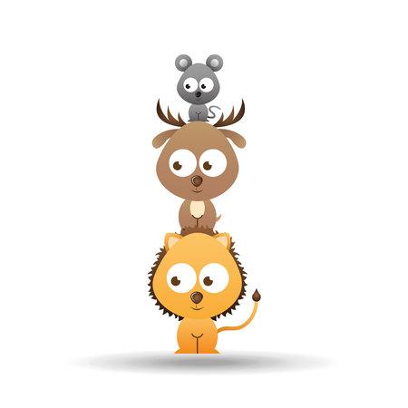 leon de dibujos animados: animales lindos diseño, ejemplo gráfico del vector eps10