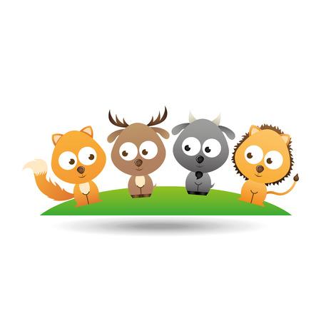 leon caricatura: animales lindos dise�o, ejemplo gr�fico del vector eps10