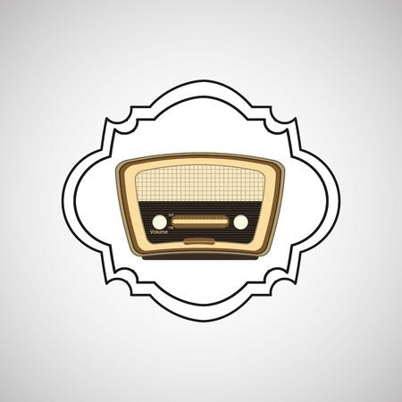 electronic 80s: retro music design, vector illustration eps10 graphic