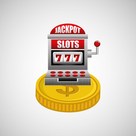 jackpot: jackpot machine design, vector illustration eps10 graphic