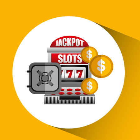 jackpot: jackpot machine design, vector illustration