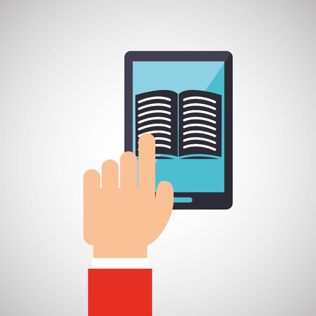 electronic book: electronic book design, vector illustration