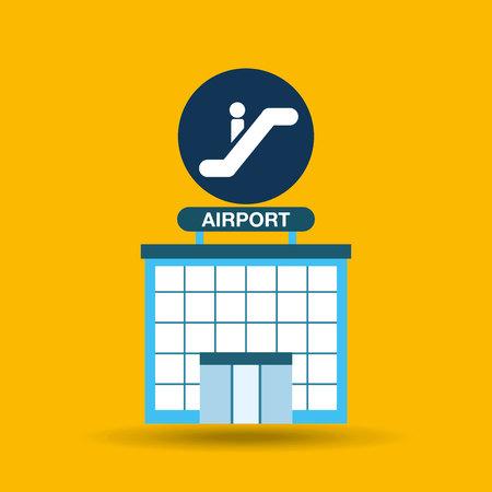 airport terminal: airport terminal design, vector illustration