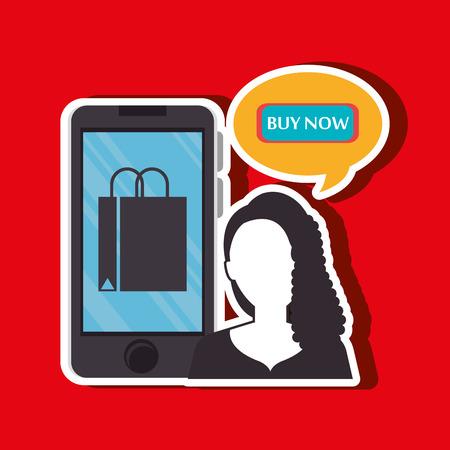 electronic commerce: electronic commerce design, vector illustration